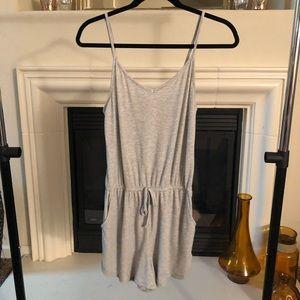 Heathered Gray Loungewear Romper